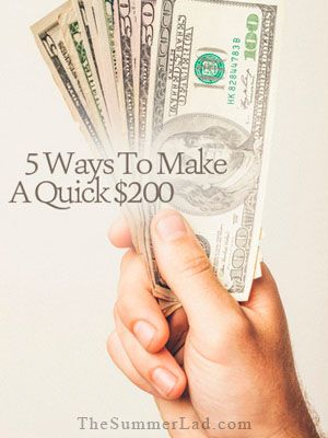 5-ways-to-make-a-quick-200-dollars